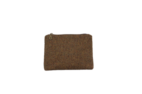 Chestnut Brown British Tweed Cosmetic Purse/Bag Tidy