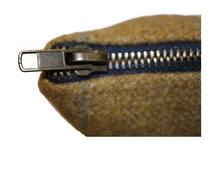 Load image into Gallery viewer, British Tweed Makeup Bag - Tan Brown Toiletry & Cosmetic Purse