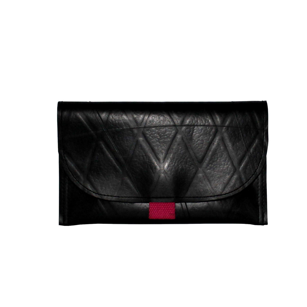 Ecofriendly inner tube black clutch bag