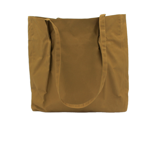 Autumnal Gold/Mustard Waxed Cotton Marguerite Tote Bag