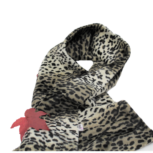 Snuggly, Animal Print, Faux Fur Scarf