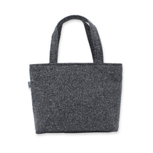 Load image into Gallery viewer, Grey Handbag in Speckled Wool with Zip