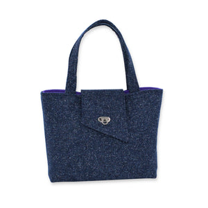 Small Tote Bag in Navy Blue