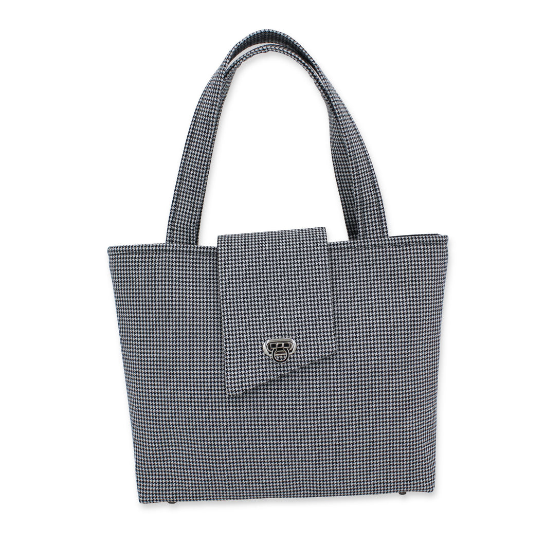 Houndstooth handbag - dogstooth handbag