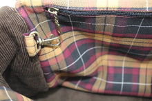 Load image into Gallery viewer, jessamine_chocolate_cord_tartan_lining