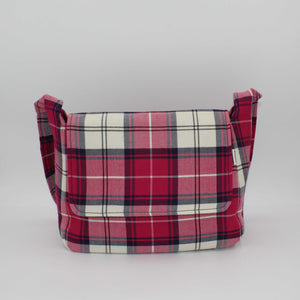Pink Tartan Small Messenger Bag