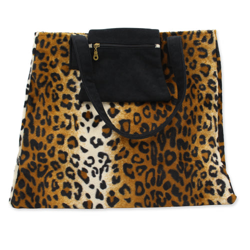 Leopard print shoulder bag weekend bag