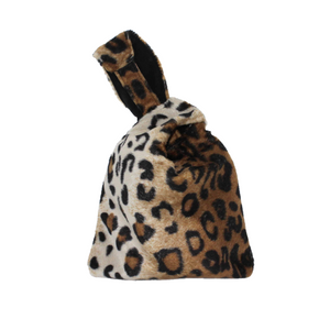 Leopard Print Wristlet Bag - Animal Print Evening Wrist Bag