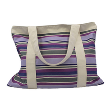 Load image into Gallery viewer, Extra Large Beach Bag in Striped Cotton Canvas