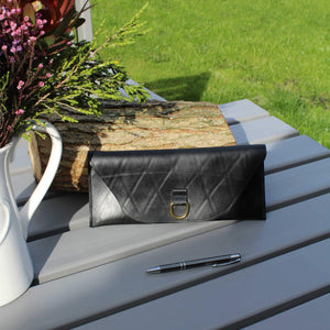 Recycled inner tube clutch purse