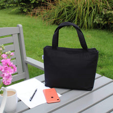 Load image into Gallery viewer, Black Handbag with Zip