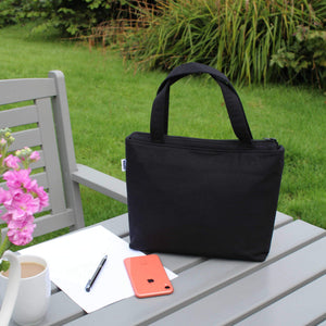Black Handbag with Zip