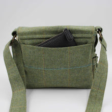 Load image into Gallery viewer, British Tweed Crossbody Bag - Sage Green