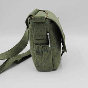 British Tweed Crossbody Bag - Sage Green