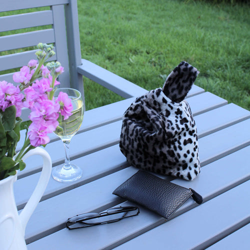 Animal Print Wristlet Bag - Evening Wrist Bag