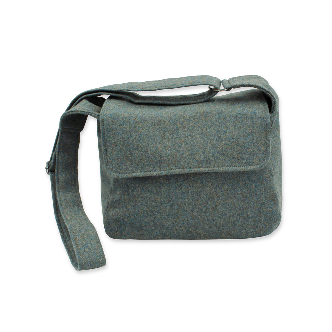 Tweed Crossbody Bag - Sea Blue British Tweed