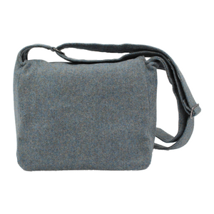 British Tweed Crossbody Bag - Misty Sea Blue