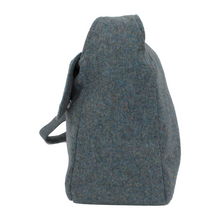 Load image into Gallery viewer, British Tweed Crossbody Bag - Misty Sea Blue