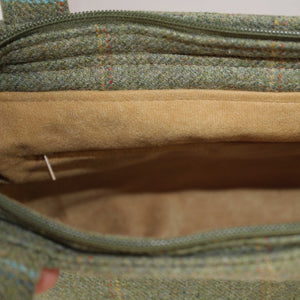 Beige Suede Lining Detail showing Internal Zipped Pocket