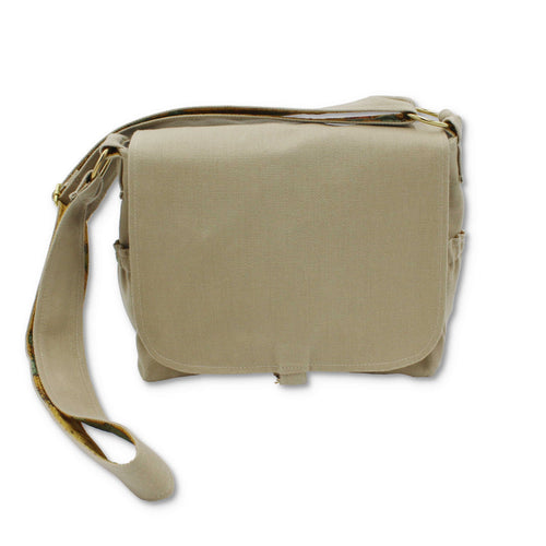 Waxed cotton crossbody bag