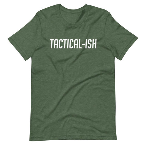 Raising Tactical Daughters Heather Forest / S Tactical-Ish White T-Shirt