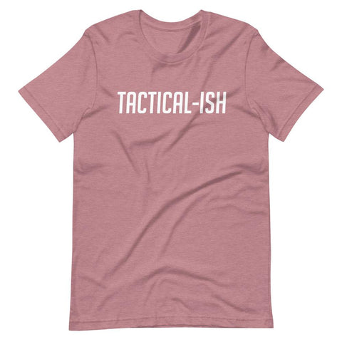 Raising Tactical Daughters Heather Orchid / S Tactical-Ish White T-Shirt