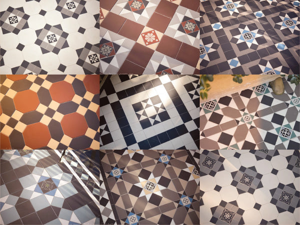 Mixed tessellated tile range
