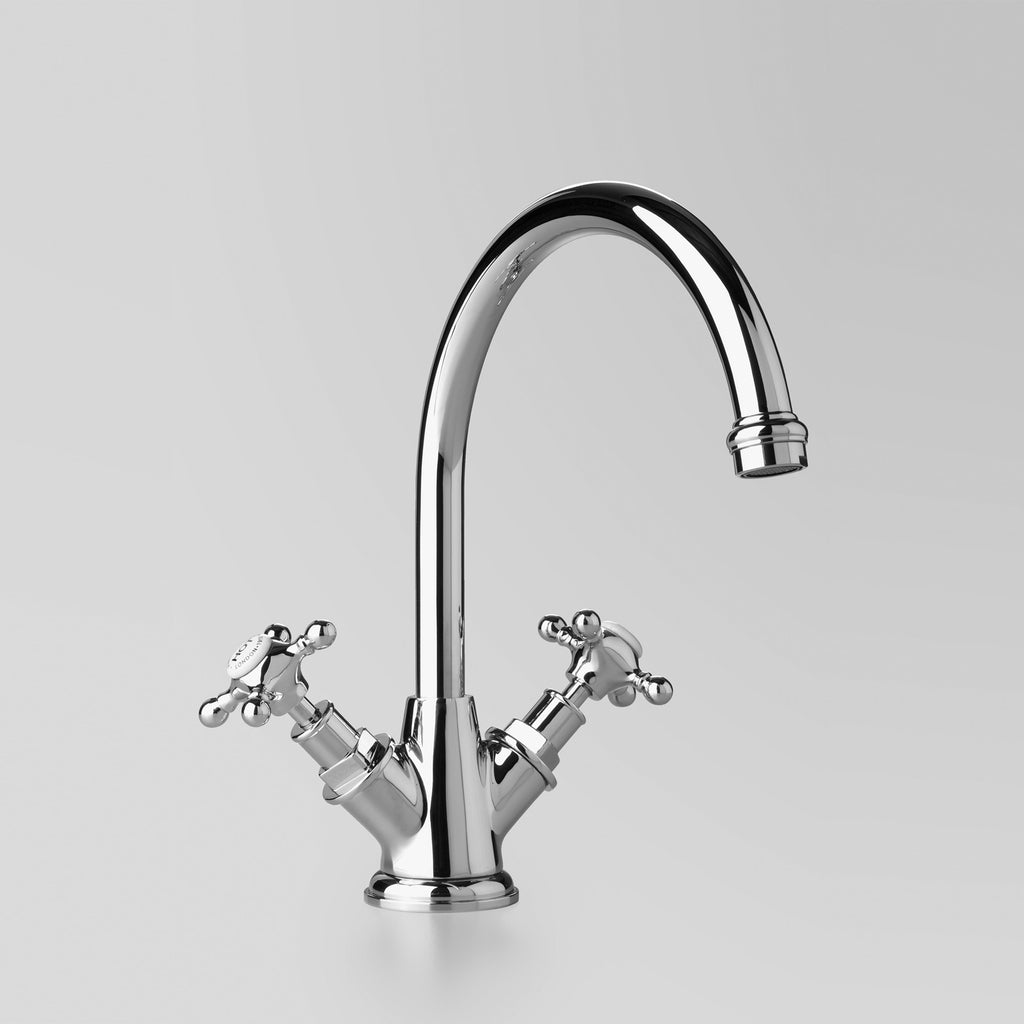 Edwardian -  Classic Edwardian Kitchen Twinner 200mm swivel spout