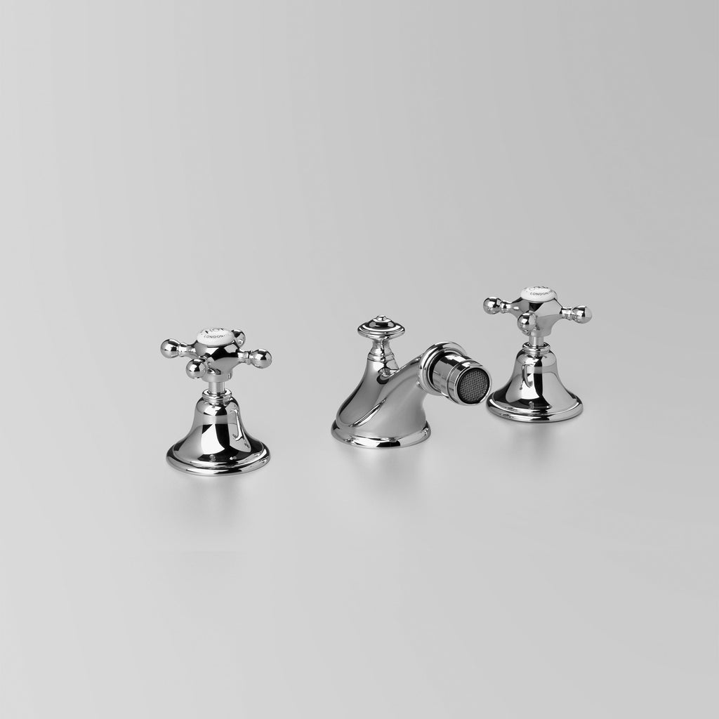 Edwardian -  Classic Edwardian Bidet Set with 32mm or 40mm pop up waste