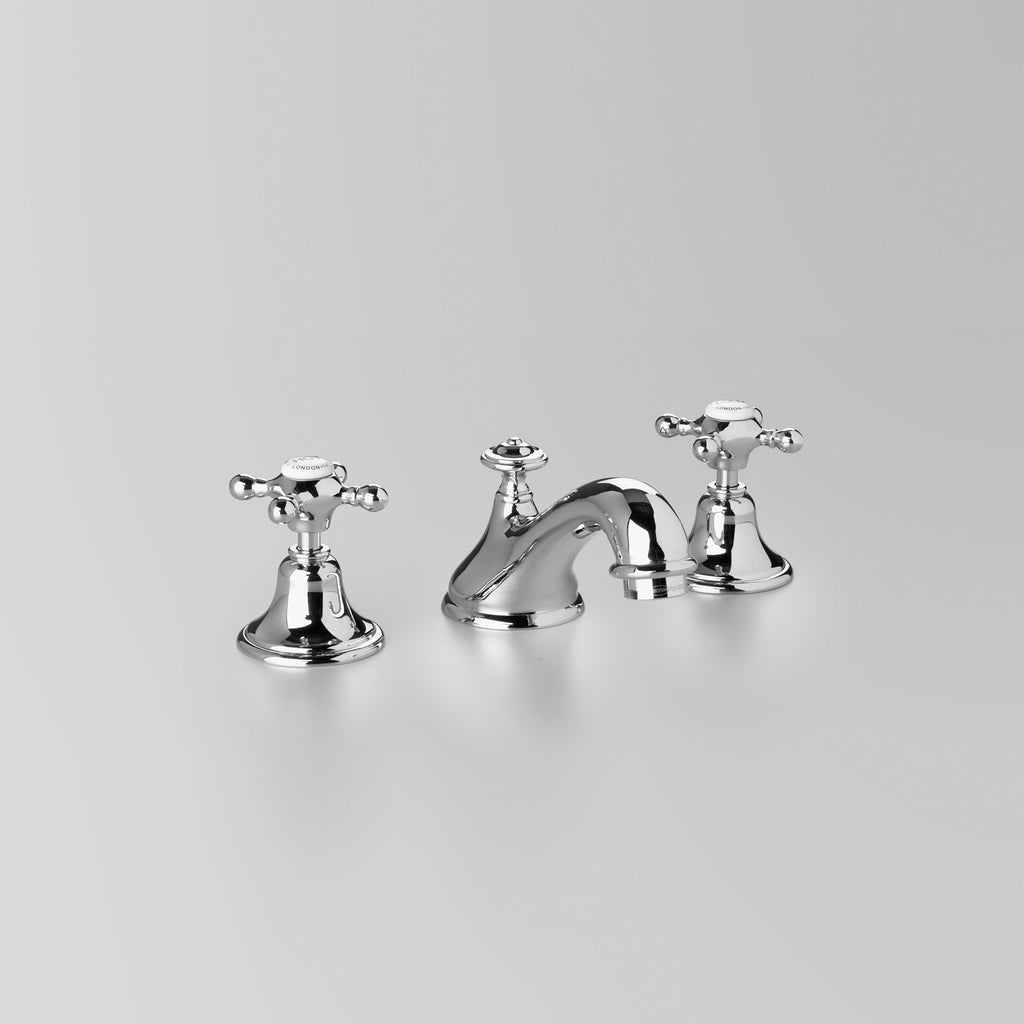 Tap Ware, Showers and Accessories -  Classic Edwardian Basin Set 115mm fixed spout