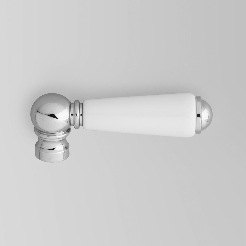 - Classic Edwardian White Porcelain Lever (Single)