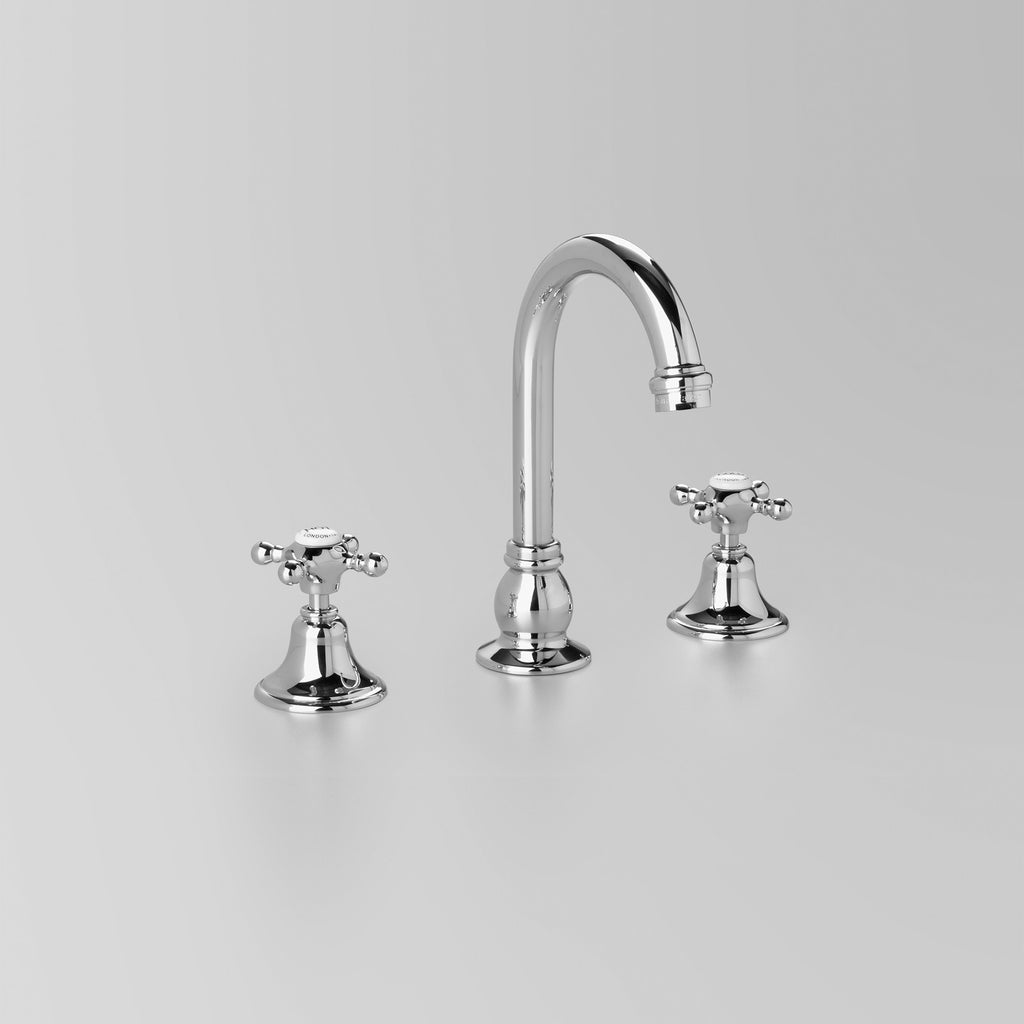 Edwardian -  Classic Edwardian Basin Set swivel 110mm swivel spout