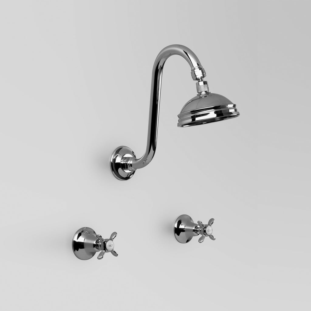 Olde English -  Classic Olde English Shower Set with 100mm ball joint Rose