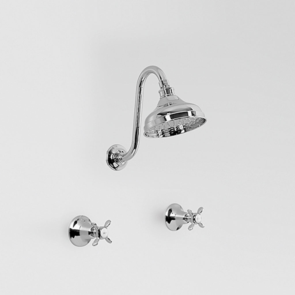 Olde English -  Classic Olde English Shower Set with Gooseneck Arm & 150mm rose