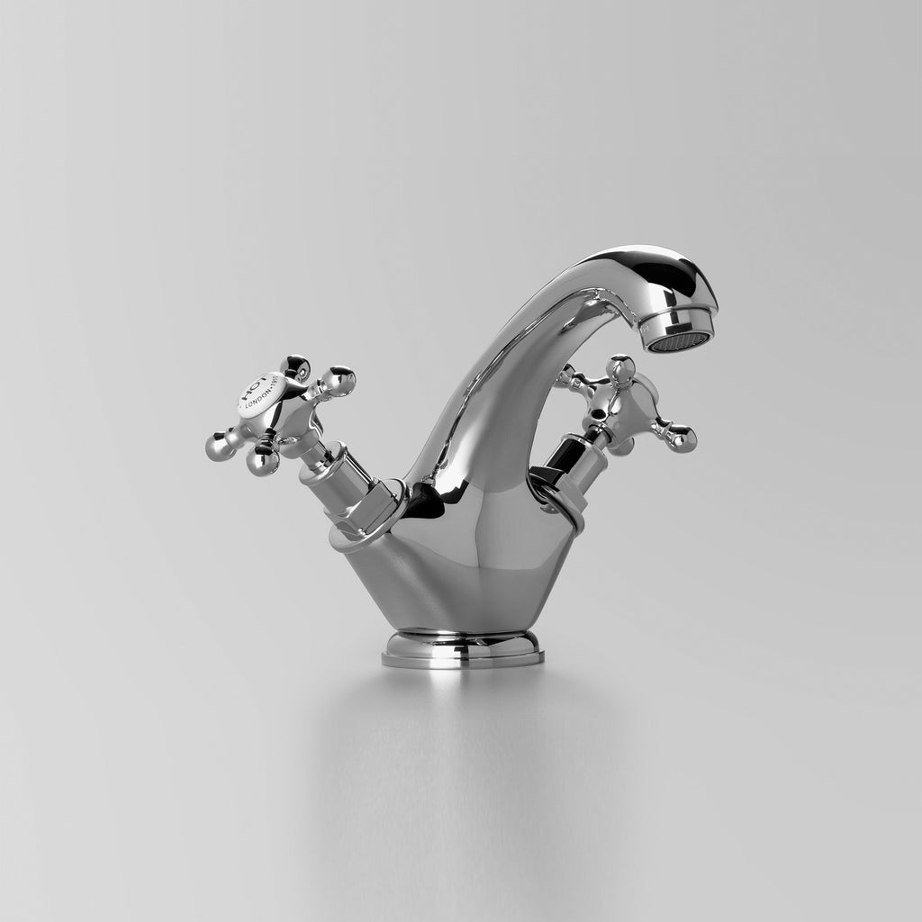 Edwardian -  Classic Edwardian Basin Twinner 125mm fixed spout