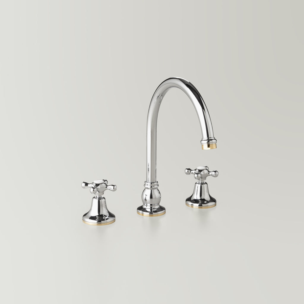 Hampton -  Classic Hampton Hob Spa & Kitchen Set 200mm swivel spout including bodies & tee (flow control option)