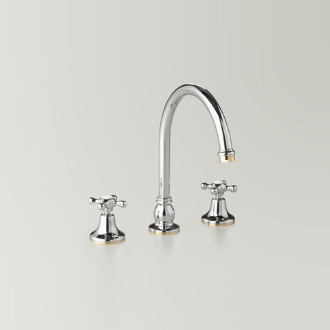 Classic Hampton Hob Spa & Kitchen Set 200mm swivel spout including bodies & tee (flow control option)