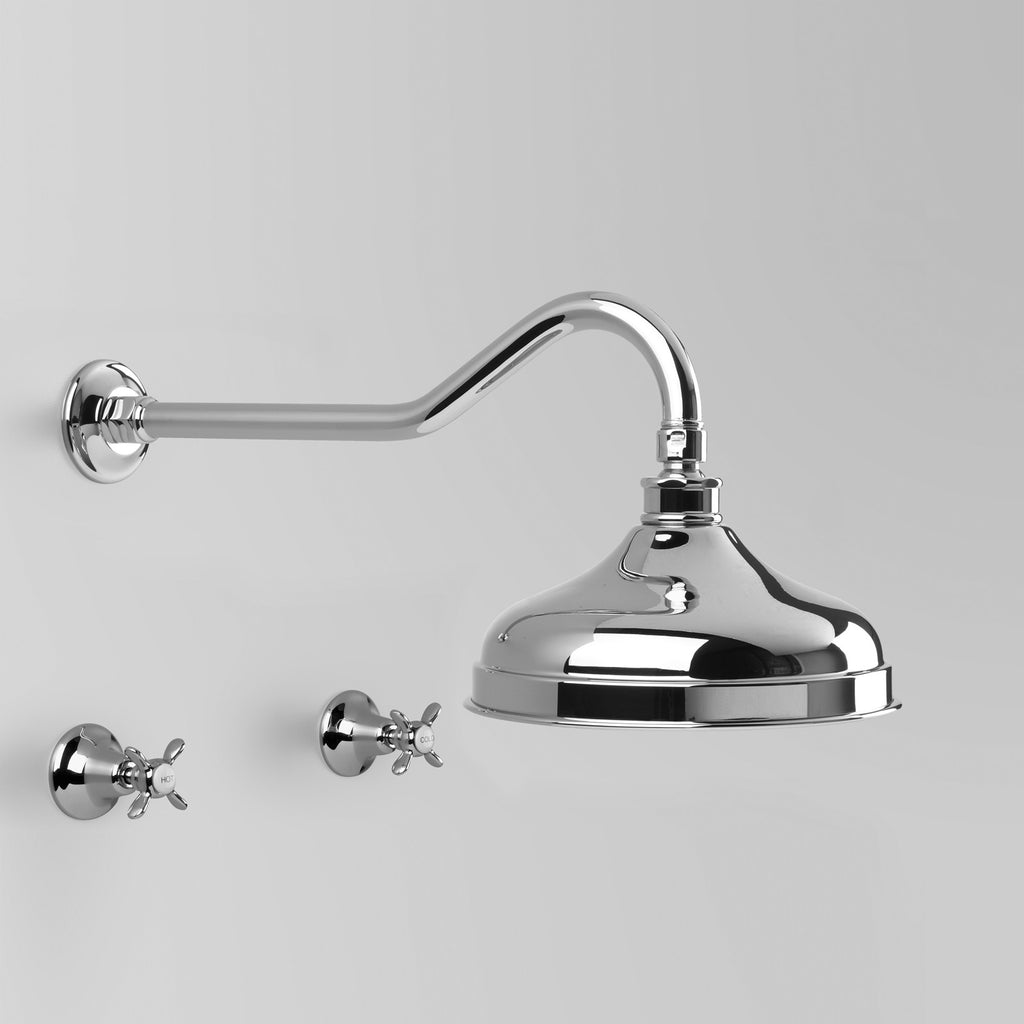 Olde English -  Classic Olde English Shower Set V2 with 200mm ball joint rose