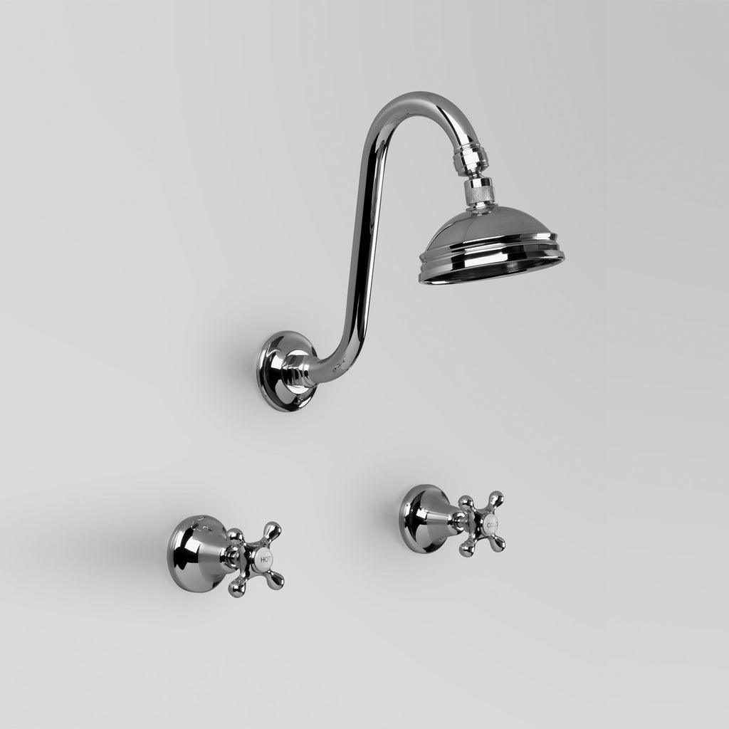 Hampton - Classic Hampton Shower Set 100mm ball joint rose