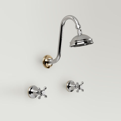 Classic Hampton Shower Set 100mm ball joint rose