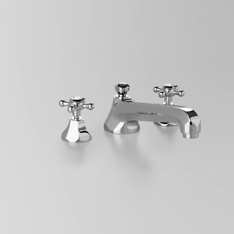 Classic Hob Spa Set 220mm quick fix spout, including bodies & tee. (flow control option)