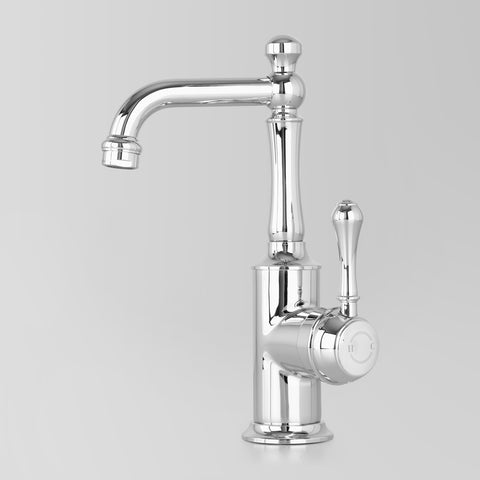 Classic Olde English Signature Basin V2 Mixer Metal Lever 110mm swivel spout