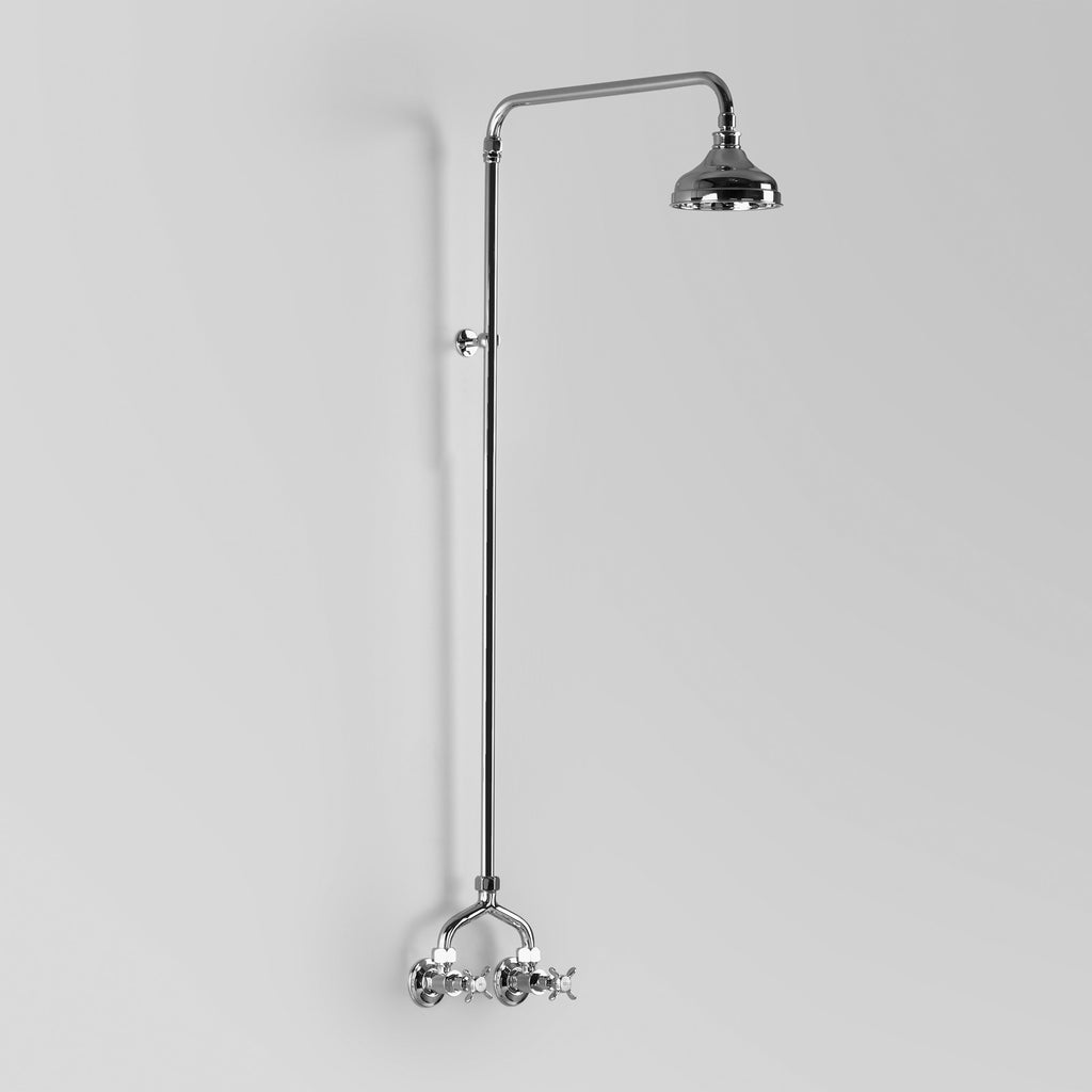 - Classic Olde English Shower Set Wall entry at 150mm fixed centres & 150mm shower rose