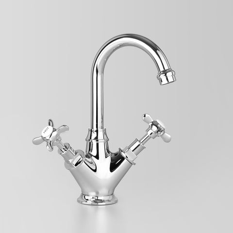 Classic Olde English Basin Twinner V2 110mm swivel spout