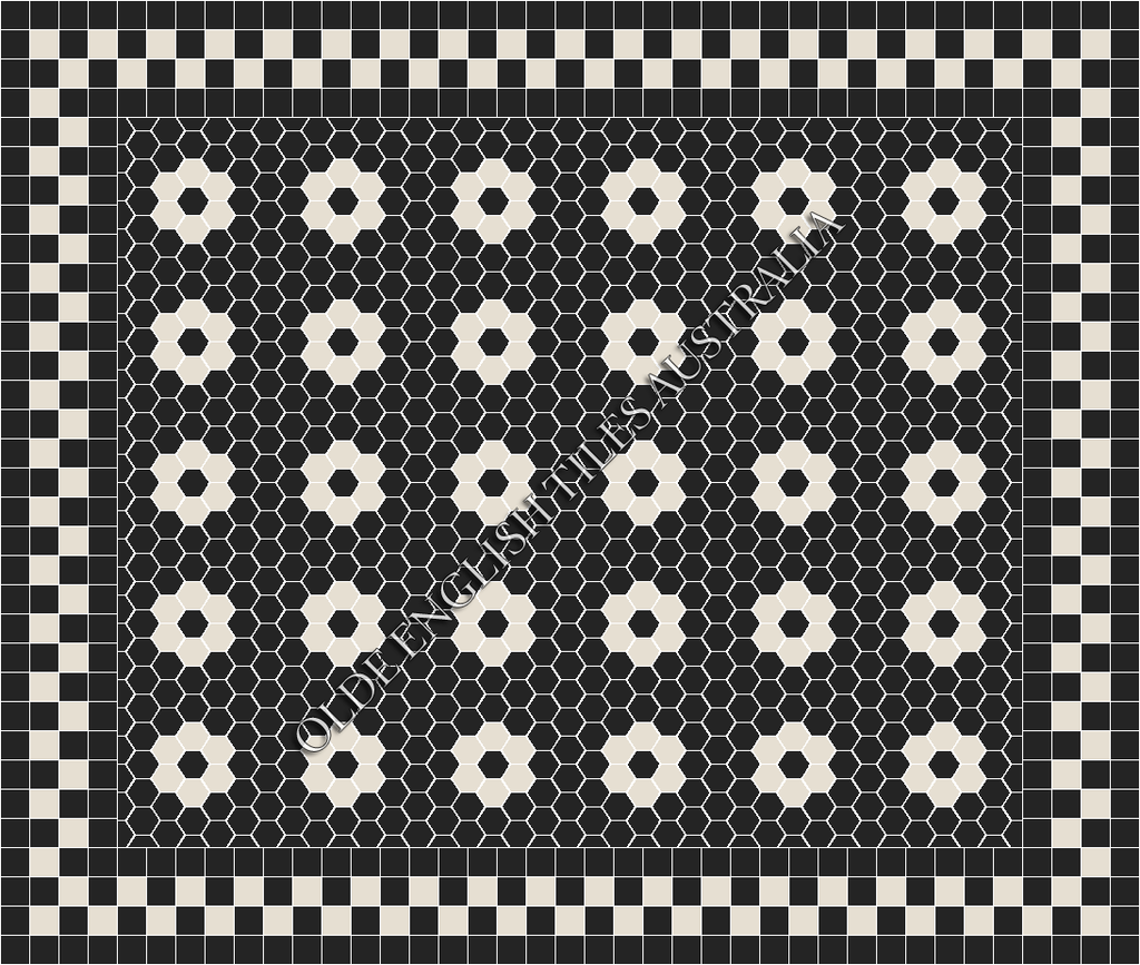 - Algonquin 50 Black with White Pattern