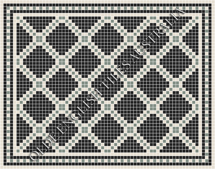 - Astoria 20 Multi Black with White & Light Green Pattern