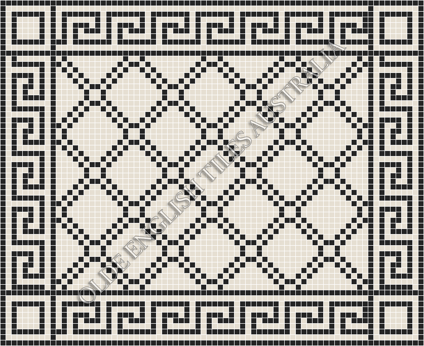 - Astoria 20 White with Black Pattern