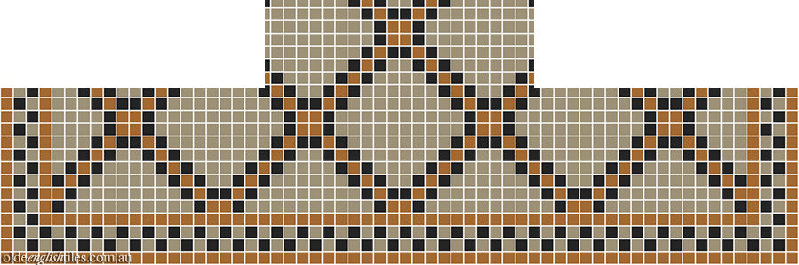 Fireplace Mosaic -  Astoria Multi 20 with Checkerboard border - Option 3