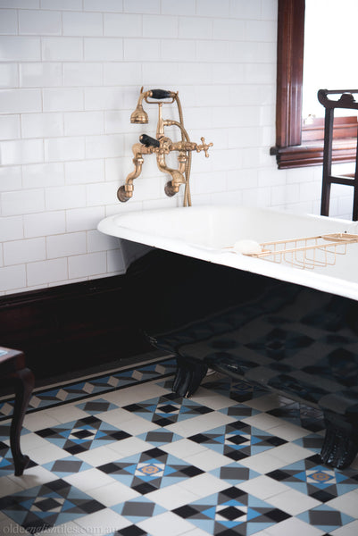 Tessellated Tiles Patterns Lane Cove bathroom