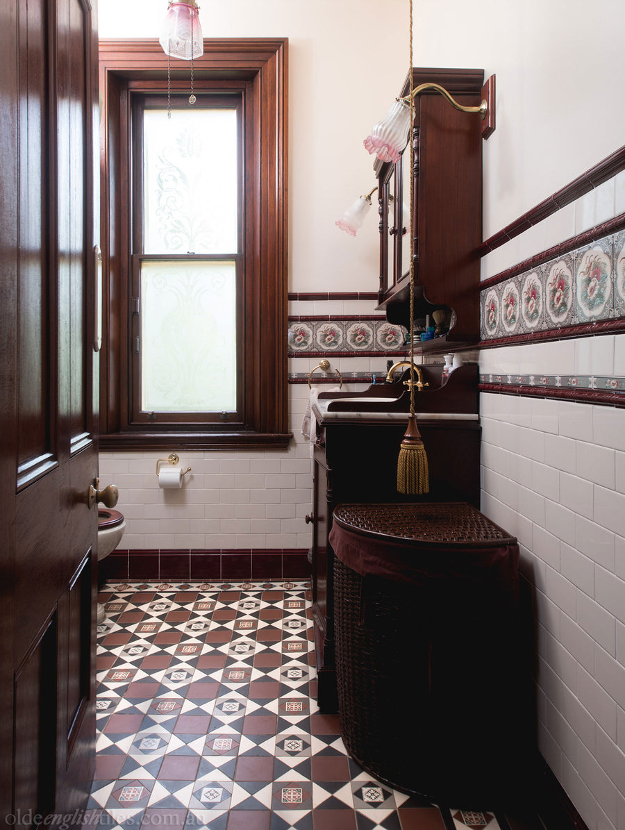 heritage bathroom tiles bathroom heritage tessellated tiles olde tiles 13105